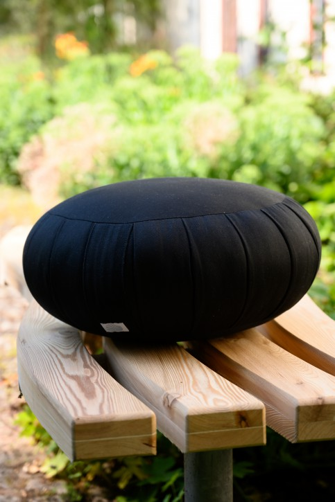 Sitzkissen, Kapok, groß, schwarz