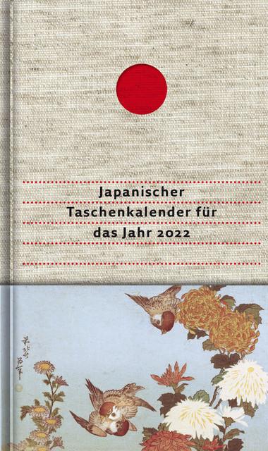 Japanischer Taschenkalender für das Jahr 2022